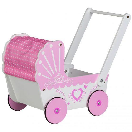 Drewniany wózek dla lalek pchacz dla dzieci