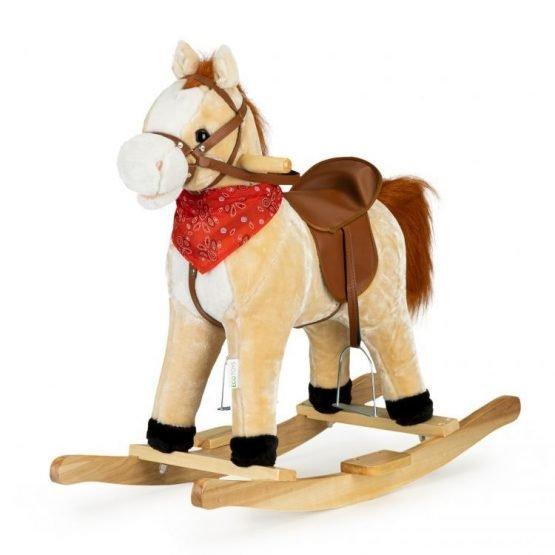Koń na biegunach ruchomy ogon i pysk dźwięki