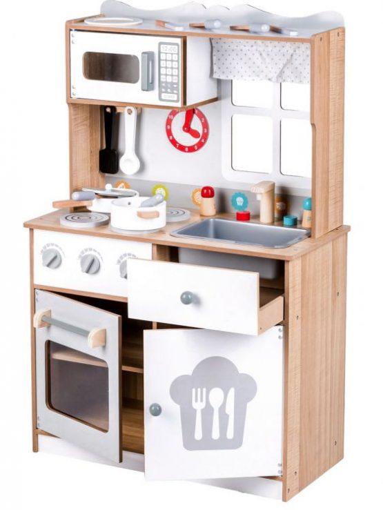 Drewniana kuchnia XXL + przybory kuchenne