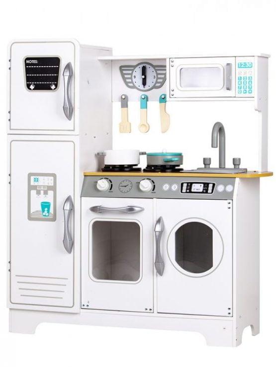 Drewniana kuchnia XXL z pralką dla dzieci