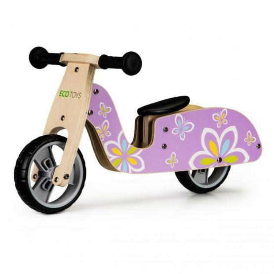 Drewniany rowerek rower biegowy balansowy skuter