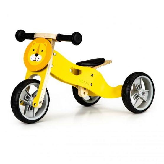 Drewniany rowerek rower trójkołowy 2w1 balansowy – LEW