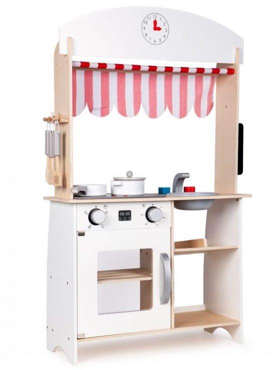 Drewniana kuchnia 2w1 sklep stragan + dodatki